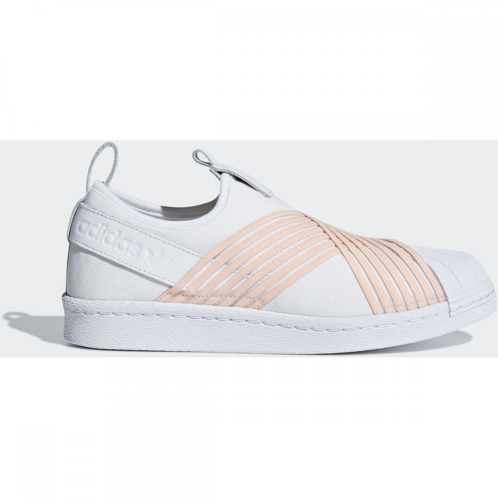 Damen Slip on | Adidas Originals Superstar Slip-On Schuh weiß|orange