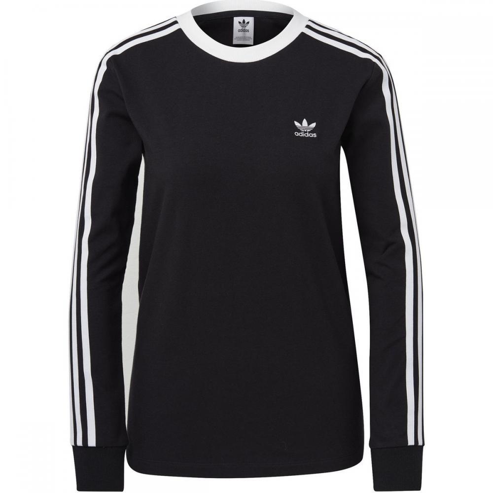 Damen T-Shirts & Poloshirts | Adidas Originals 3-Streifen Longsleeve schwarz