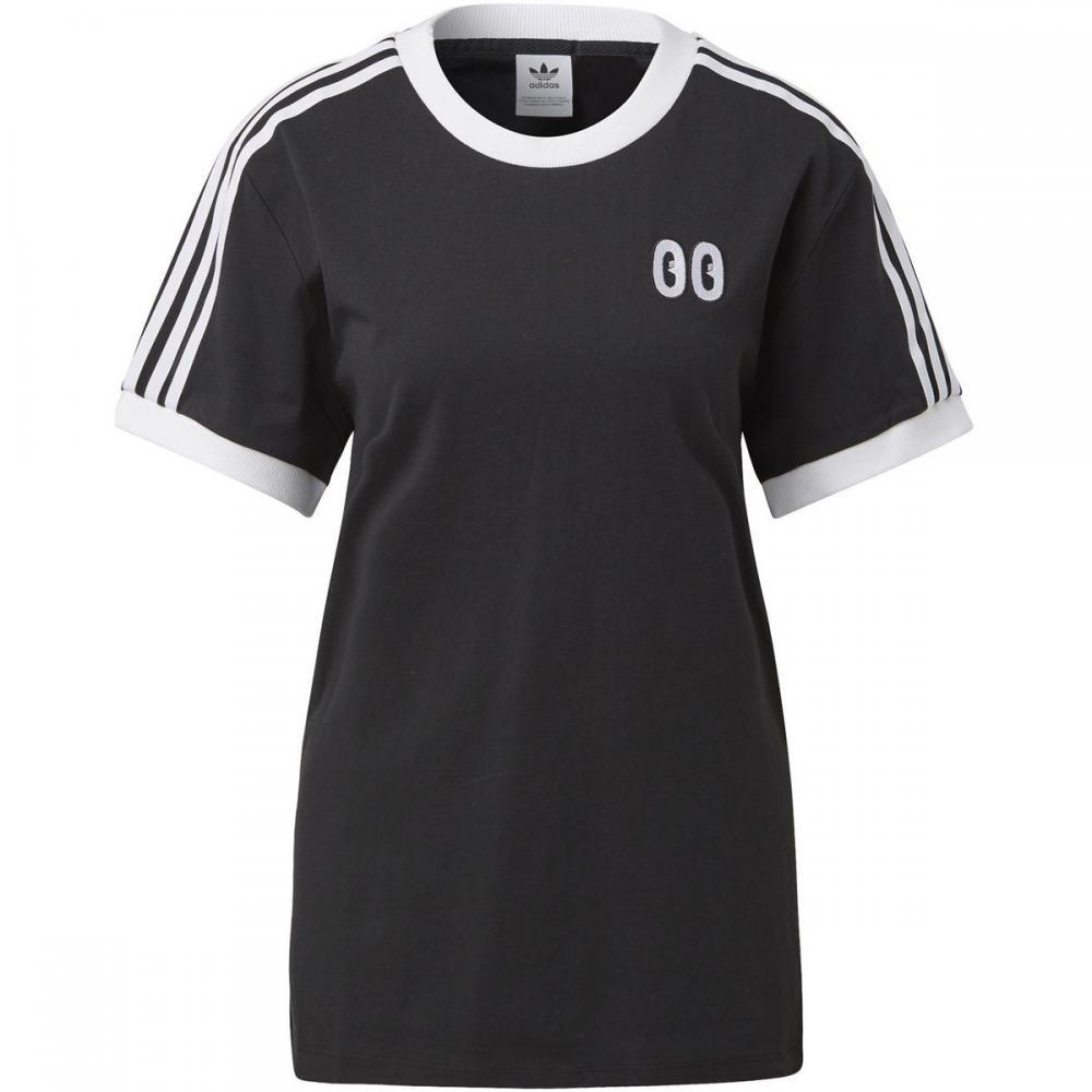 Damen T-Shirts & Poloshirts | Adidas Originals 3-Streifen T-Shirt schwarz