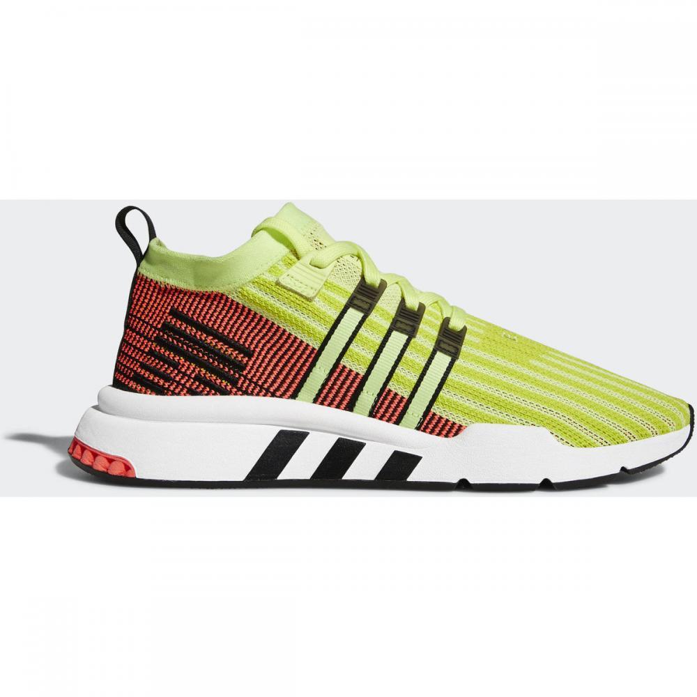 Herren Sneaker | Adidas Originals EQT Support Mid ADV Primeknit Schuh schwarz|rosa