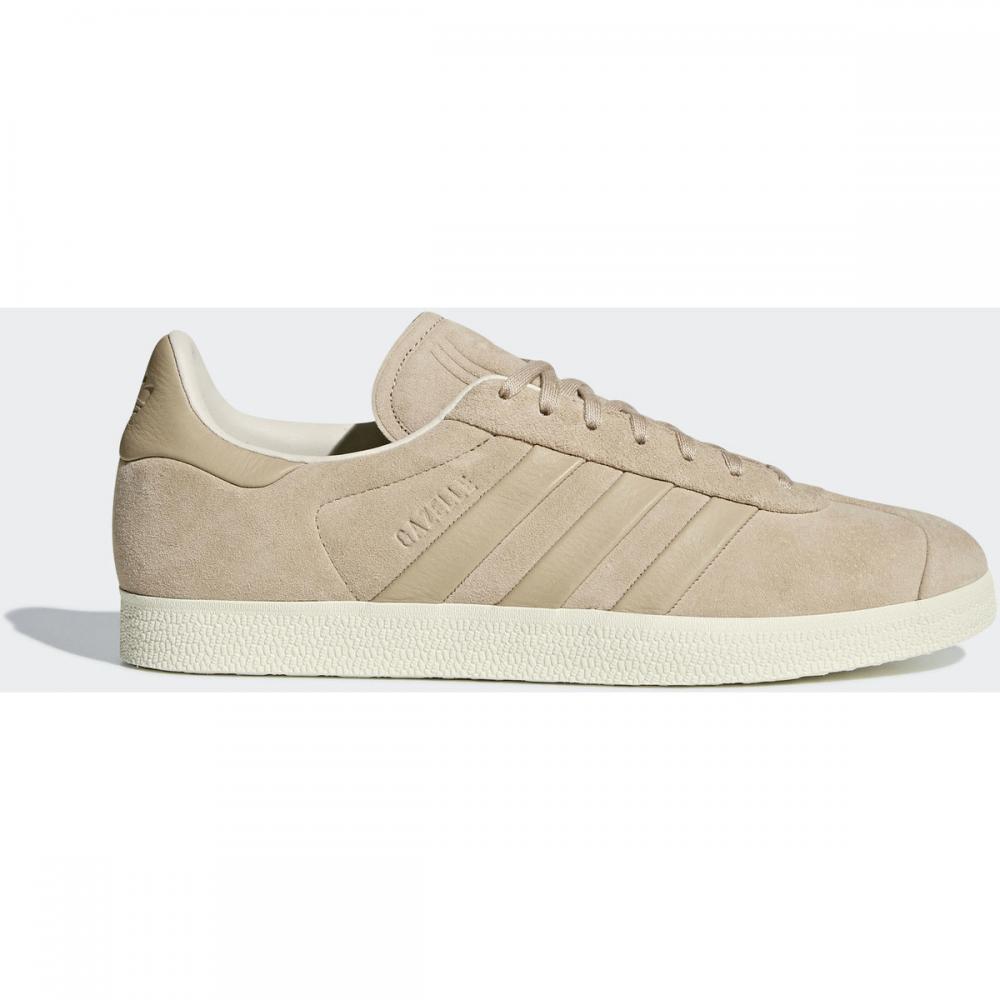 Herren Sneaker   Adidas Originals Gazelle Stitch-and-Turn Schuh weiß Beige