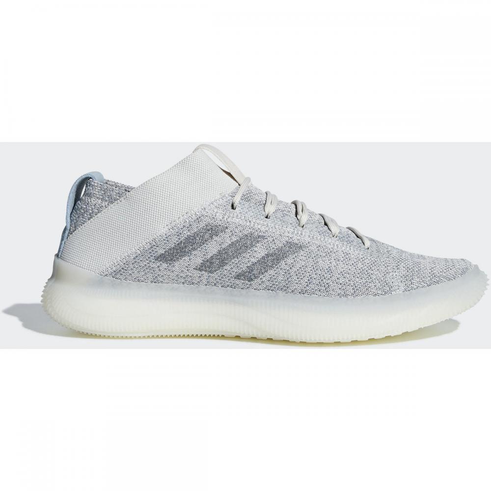 Herren Sneaker   Adidas Originals PureBOOST Trainer Schuh weiß grau